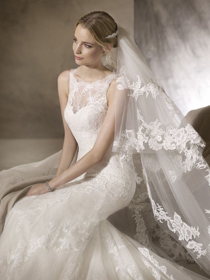 Gorgeous and Elegant sheer lace neckline. Stunning Wedding Dresses in Cape Town @ House of Silk Bridal Studio #AmazingVeil