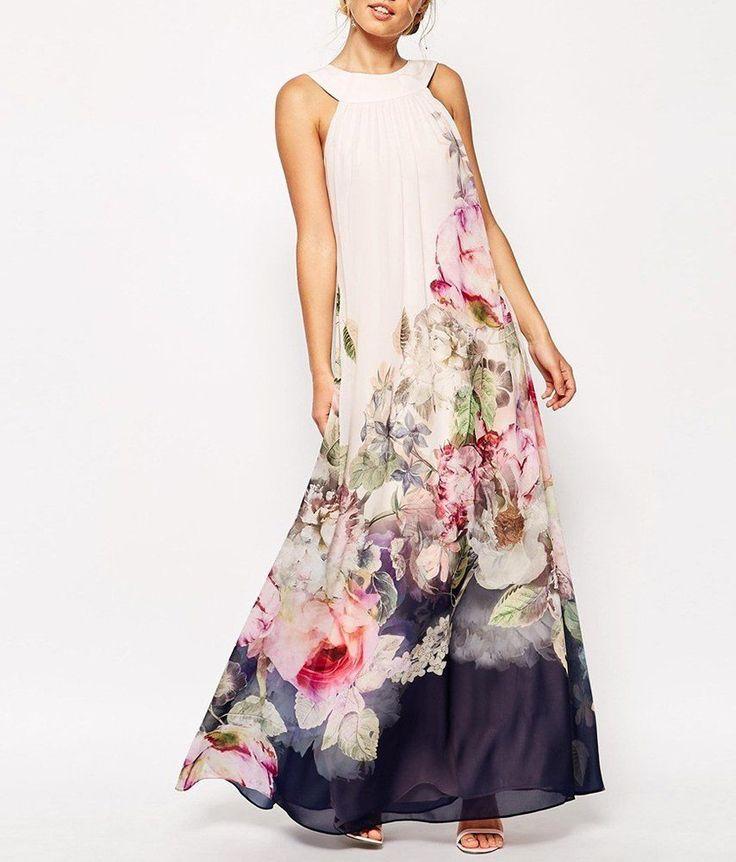 FOONEE сексуальные женщины цветочные летом пляж БОХО случайные партии вечернее шифоновое платье   eBay