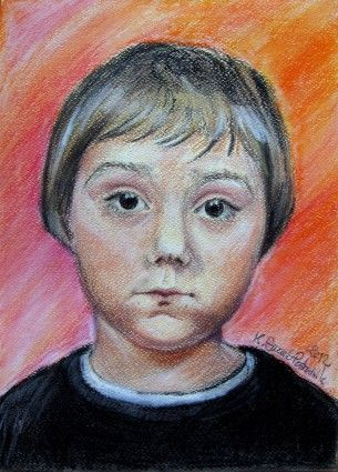 Pastel portrait. Author Kamila Guzal-Pośrednik