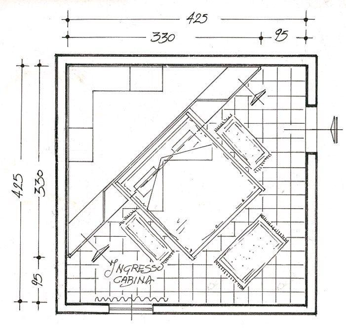 Cabina armadio angolare in legno 700 | Cabina armadio angolare - Caroti