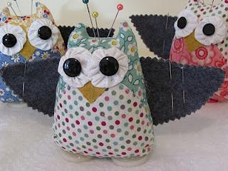 Cutest owl pincushions ever!