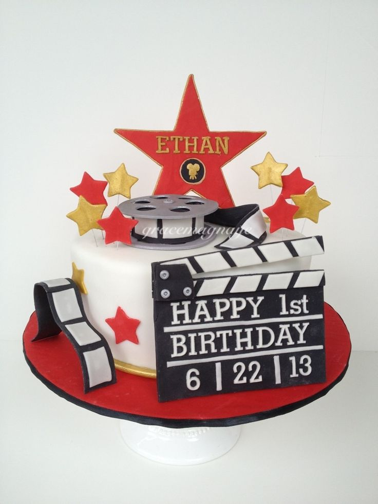 Children's+Birthday+Cakes+-+Hollywood+themed+cake+for+a+little+superstar.