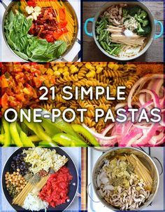 21 Simple One-Pot Pastas aka wonderpots aka the thing to make on that night when you Just Can't.