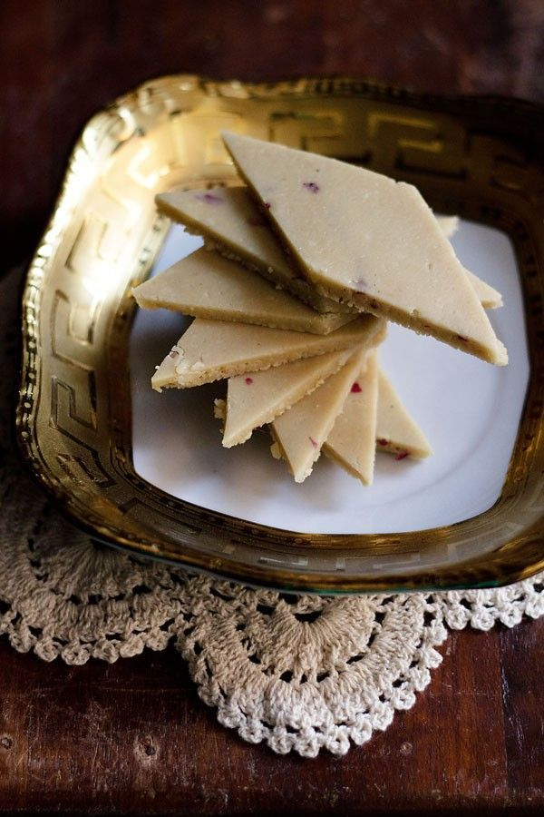 kaju katli recipe with step by step photos - one of the most popular indian sweet made with cashews and sugar.