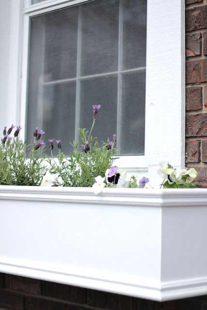 Coordinately Yours, by Julie Blanner | Entertaining & Design Blog that Celebrates Life: DIY Window Planters Filled with an Edible Garden