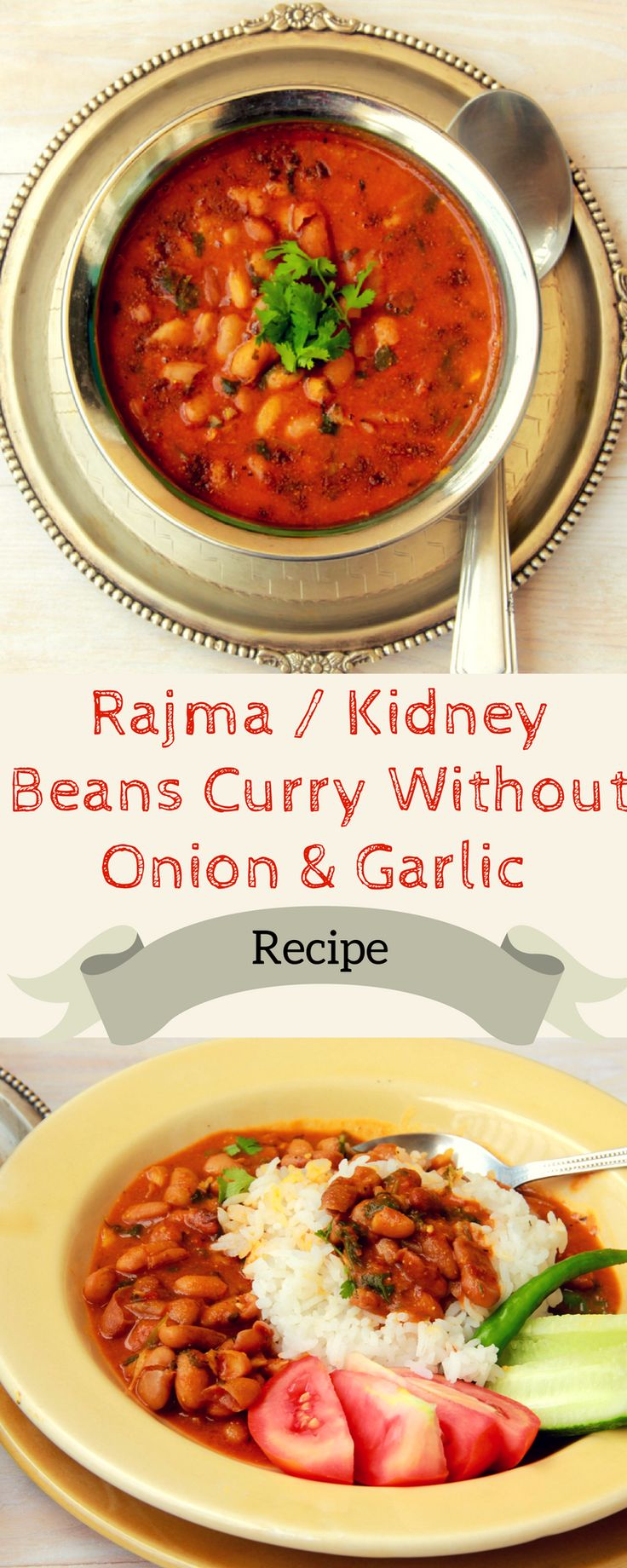 Punjabi Rajma Without Onion & Garlic A Recipe for Rajma / Red Kidney Bean Curry without onion and garlic A Navratri special. A jain Recipe for Rajma