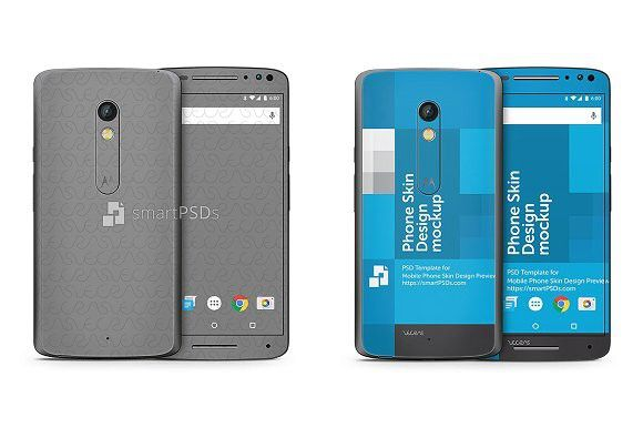 Moto X Play Mobile Skin Design