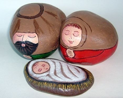 Nativity set which may be displayed indoors on a sturdy surface or used as an outdoor nativity scene display. (nativity sets / nativity scene figures)