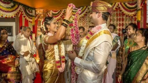 South indian golden wedding