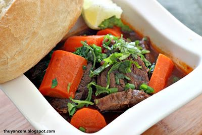 Bo Kho- Vietnamese Beef Stew served with french bread.