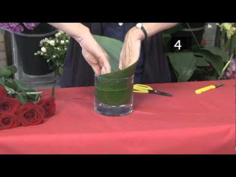 How to arrange flowers in a small vase - contemporary. (YouTube)
