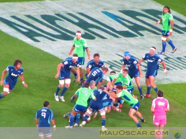 Assistindo a um jogo de Rugby em #Auckland na Nova Zelândia