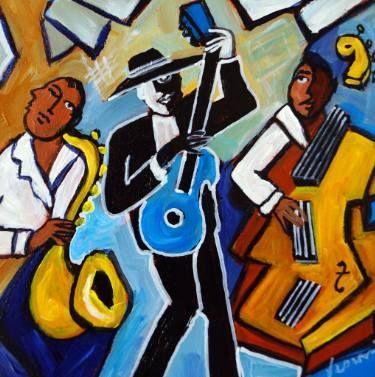 "Saatchi Art Artist Valerie Vescovi; Painting, ""Le Trio de Jazz"" #art"