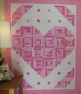 Loving Heart Quilt Pattern  - http://quilting.myfavoritecraft.org/easy-quilt-patterns/