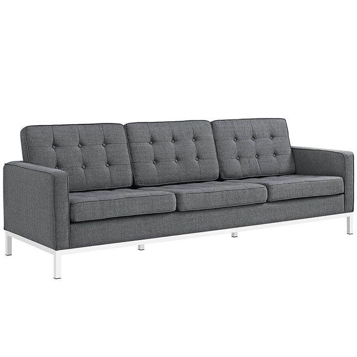 Modway Furniture Modern Loft Fabric Sofa #design #homedesign #modern #modernfurniture #design4u #interiordesign #interiordesigner #furniture #furnituredesign #minimalism #minimal #minimalfurniture
