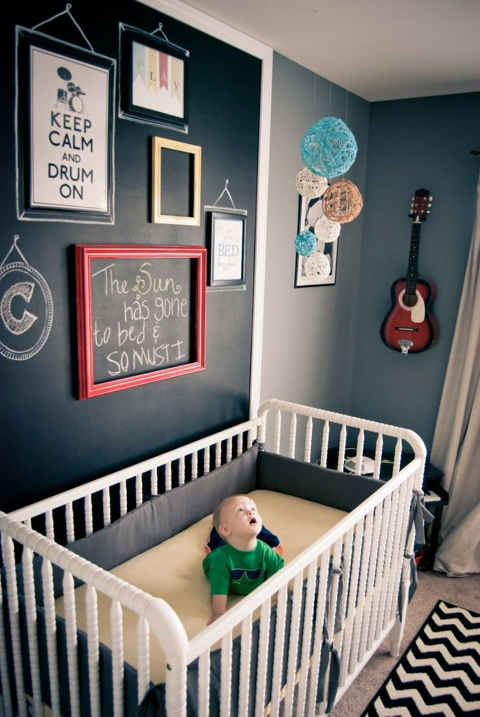 Love the chalk board with frames!!