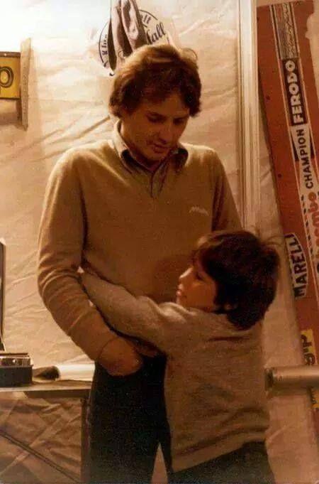 Villeneuve and his son.