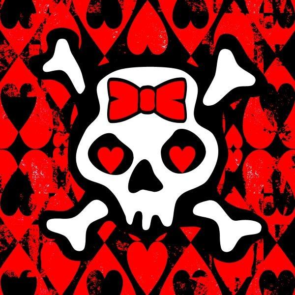 Love Heart Skull by Roseanne Jones