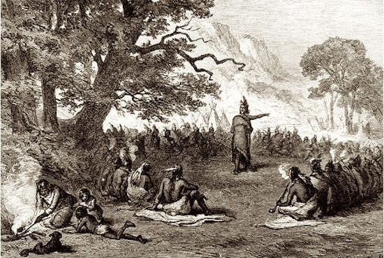 According to historical sources, Shawnee warriors attacked European settlers at Kerr's Creek in 1759 and 1763.