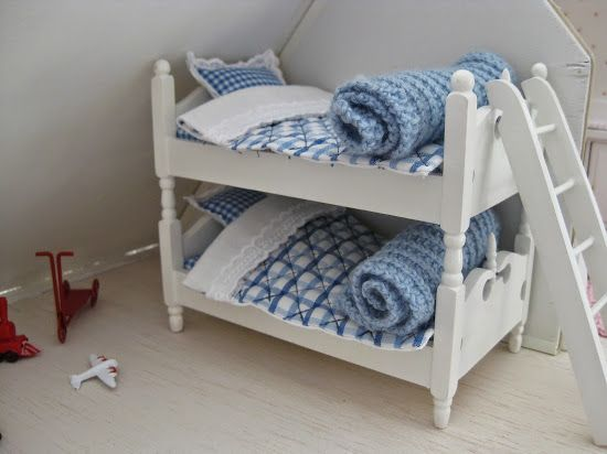 new bedding in boys´ bunkbed