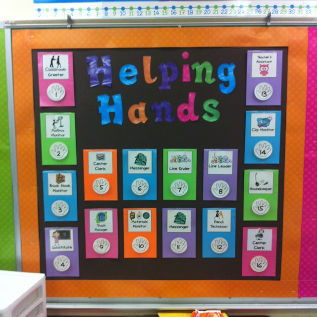 My Classroom jobs board! I purchased this classroom jobs packet from Erica Bohrer's tpt store!