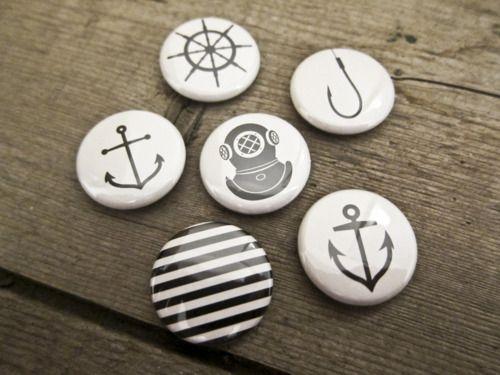 nautical buttons anchors aweigh pinterest