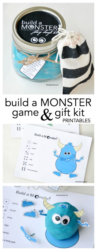 Halloween | Looking for a Halloween Classroom Party Game or a Halloween Gift? Create this fun Build a Monster Game with these free Halloween Printables.