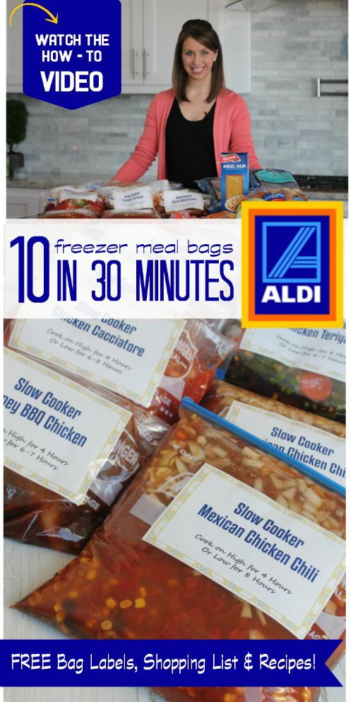 10 Freezer Meal Bags from Aldi