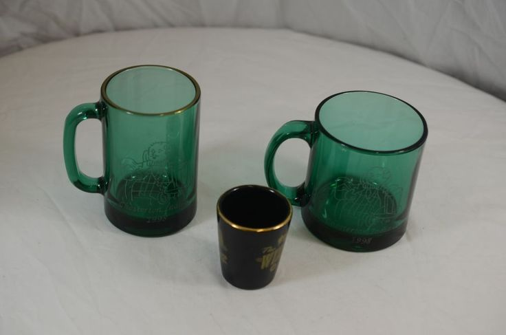 The Wizard of Oz Festival 1998 Chesterton Indiana Green Drinking Glass & Shot