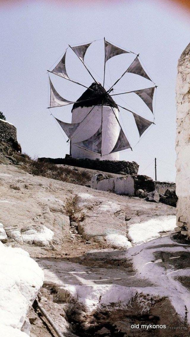 #Mykonos ,1968. #Windmill of Pendaras.