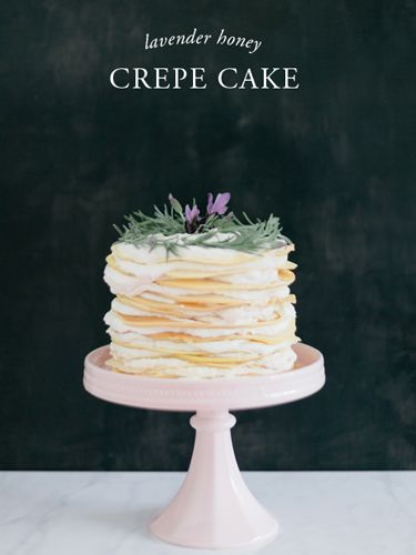 """If stacked cakes are your thing (and they are certainly ours!), then put this lavender honey crepe cake on your """"To Bake"""" list ASAP."""
