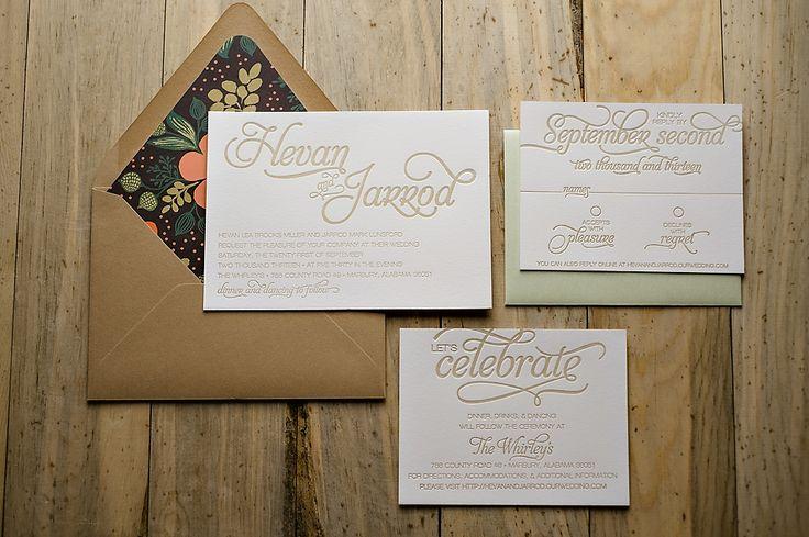 Champagne wedding invitation, rustic floral wedding invitation, invitation with twine