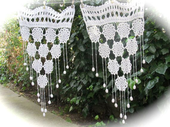 Crochet Lace Brise Bise White French Crochet by HatchedinFrance, $79.00