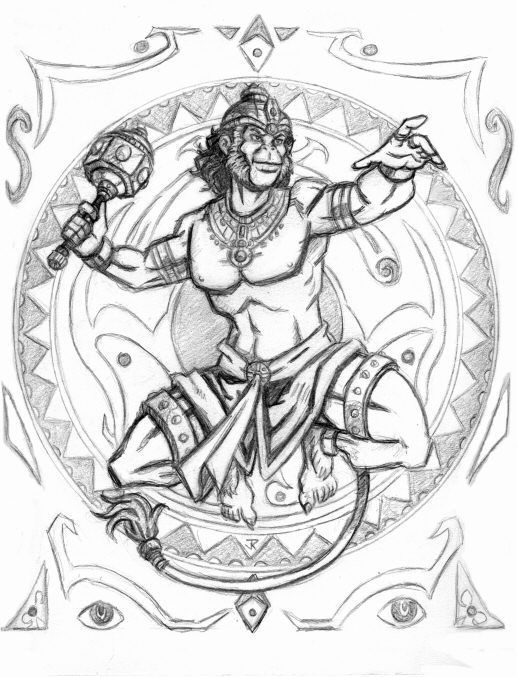 hanuman illustrations on behance - Google Search