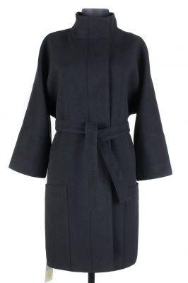 01-2732 Пальто женское демисезонное (пояс) Кашемир Черный