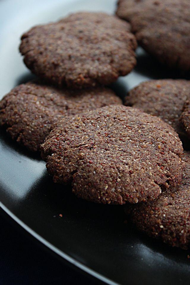 Vegan finger millet cookies