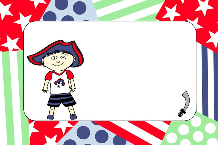 NEW DESIGN!  Pirate party, matching products also available © Purple Jungle Designs