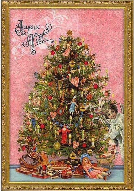Christmas Post Сards ( Germany) — Christmas Tree  (561x800):