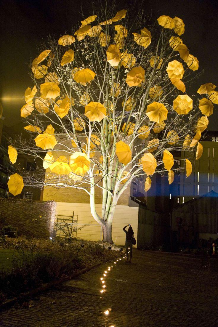 Umbrella Art: Yellow Since 1877 by Sam Spenser