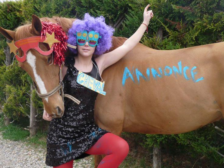 Bonne ambiance sur CA !!! #ca #chevalannonce #cheval #concours #deguisement