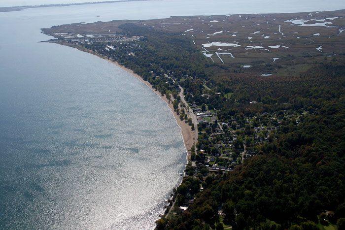 Coastline of Lake Erie, Turkey Point, Norfolk County, Ontario