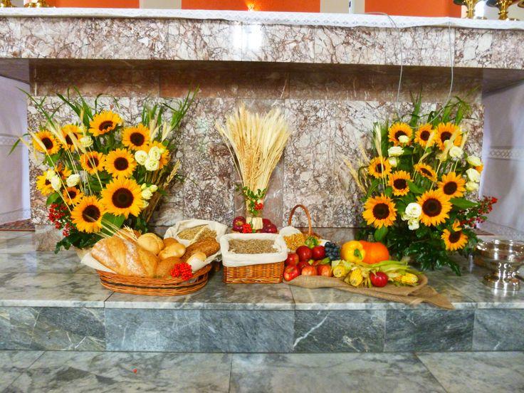 Dożynki parafialne - dekoracja ołtarza