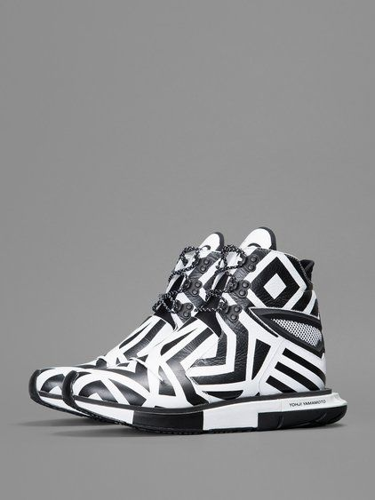 Y-3 HAYEX HIGH FSHIONISTA HIGH TOP SNEAKERS WITH GRAPHIC DESIGN