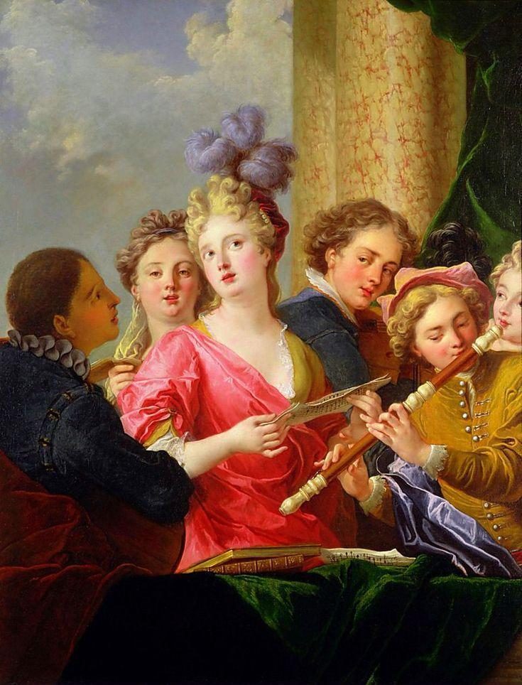 Artistas de la pintura del siglo Gallant pinturas antiguas