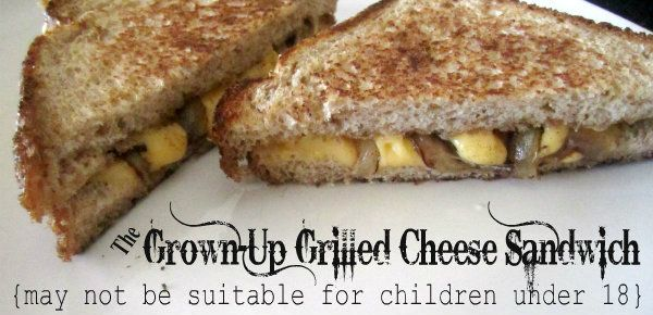 Grown up grilled cheese. My man would love love this! :D