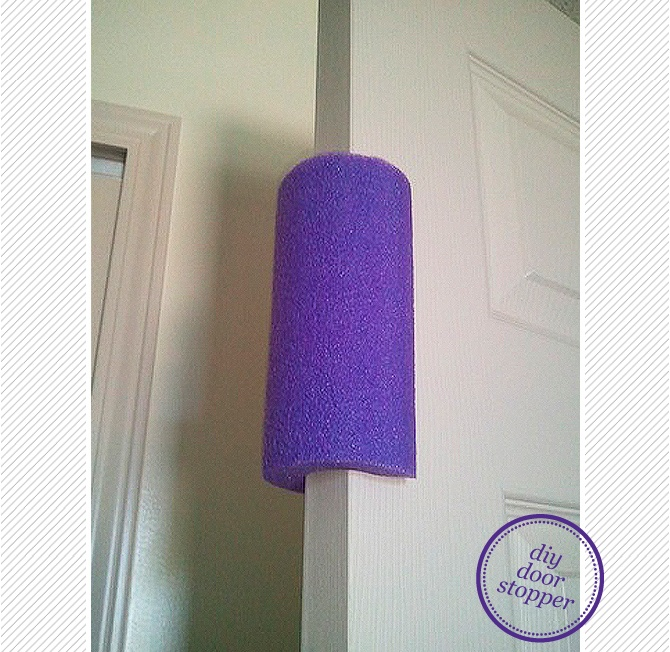 DIY Toddler Proof Door Stopper - I am beyond this, but some of my friends and family are not...Could also be good to deter slamming doors :)
