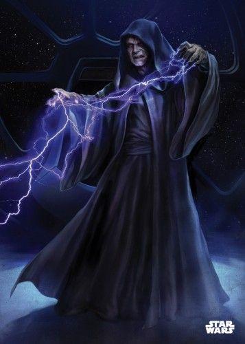 emperor palpatine darth sidious sith force lightning star wars lucas StarWars