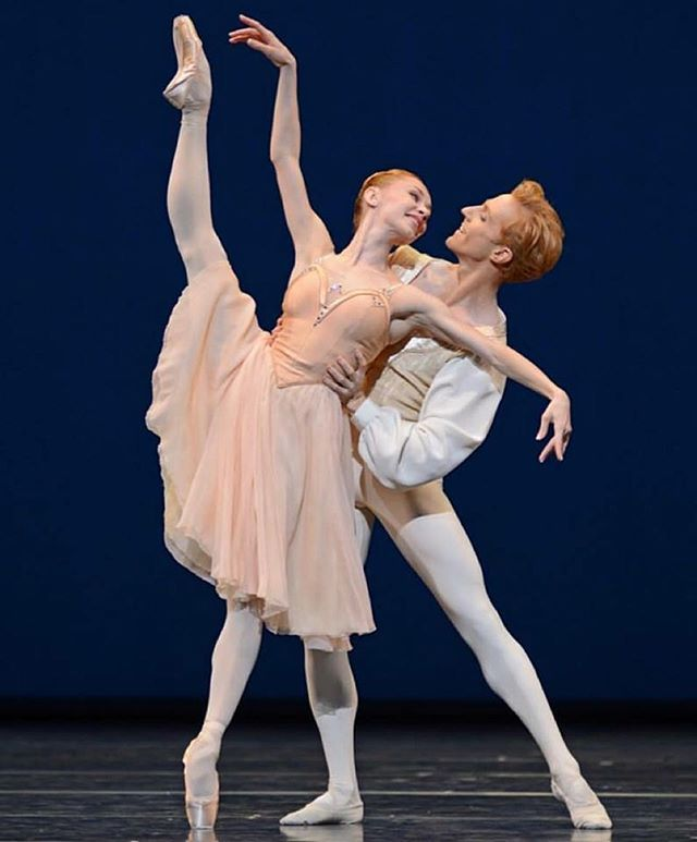 Iana Salenko and Steven McRae performing in Tchaikovsky Pas de deux
