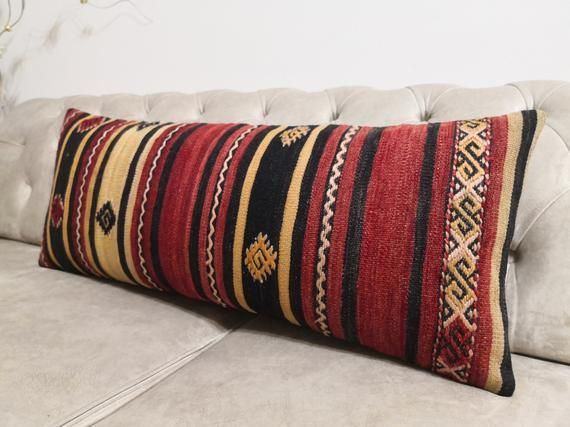 big size pillow 14x36 inches striped