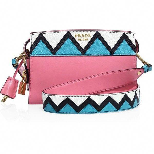 b03d99436de3c6 Prada Esplanade Leather Crossbody Bag ($1,850) ❤ liked on Polyvore  featuring bags, handbags, shoulder bags, pink leather purse, leather man  bags, leather ...